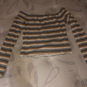 Striped fall top
